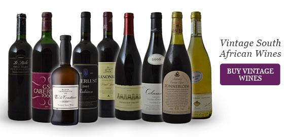 Older vintage wines