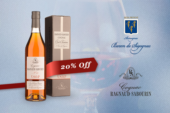 Cognac and Armagnac 20% off